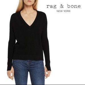 Rag & Bone/JEAN Taylor V-Neck Sweater Black M